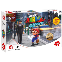 Winning Moves Steckpuzzle Puzzle Super Mario Odyssey New Donk City, 500 Puzzleteile