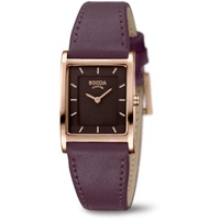 Boccia Titanium Boccia Damen Analog Quarz Uhr mit Leder Armband 3294-04 Damenuhr Titan