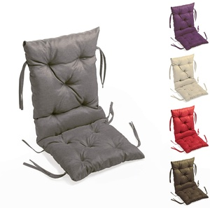 sunnypillow Bankauflage Stuhlkissen Bankkissen 40 x 40 x 40 cm Sitzkissen und Rückenkissen für Hollywoodschaukel Polsterauflage Auflage für Gartenbank viele Farben und Größen zur Auswahl Grau