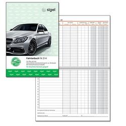SIGEL Formularbuch FA514 Fahrtenbuch, Pkw und Lkw mit Kraftstoffverbrauch