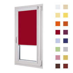Kassettenrollo, Glasleistenrollo guenstig nach Mass oder in Standardgroessen, Farbe rot