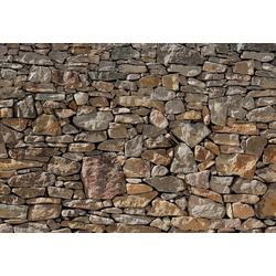 Komar Fototapete Steinwand-Tapete 368x254cm, glatt, Steinoptik