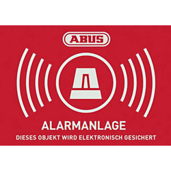 ABUS AU1423 Warnaufkleber Alarmanlage Sprachen Deutsch (B x H) 74mm x 52.5mm
