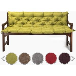 sunnypillow Bankauflage Stuhlkissen Bankkissen 100 x 40 x 40 cm Sitzkissen und Rückenkissen für Hollywoodschaukel Polsterauflage Auflage für Gartenbank viele Farben und Größen zur Auswahl Grün