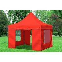 Stabilezelte Faltpavillon 3 x 3 m inkl. Seitenteile rot 3233355