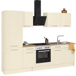 wiho Küchen Küchenzeile Ela, ohne E-Geräte, Breite 280 cm gelb