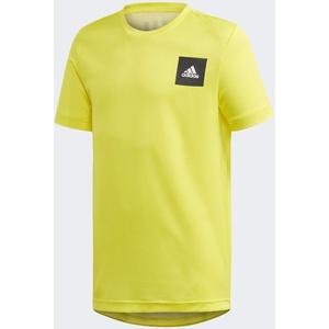 adidas Jungen JB TR AERO Tee T-Shirt, Amasho/Blanco, 164 (13/14 años)
