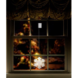 Polarlite LBA-50-017 LED-Fensterbild Schneeflocke LED Transparent