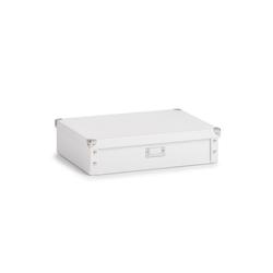 HTI-Living Aufbewahrungsbox Krawattenbox Gürtelbox (1 Stück), Krawattenbox weiß