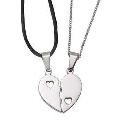 Firetti Schmuckset Partnerschmuck: 2 Halsketten mit Anhänger Herz (4-tlg)