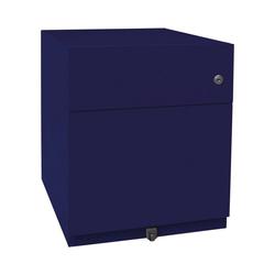 Bisley Container, Rollcontainer Note aus Stahl, für Hängeregistratur blau 42 cm x 49.5 cm x 56.5 cm