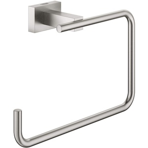 GROHE 40510DC1 Essentials Cube Handtuchring, supersteel