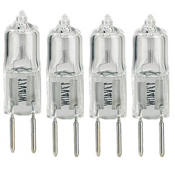 Halogen-Stiftsockellampe G4, 12 Volt, 8 Watt, warmweiß, 4er-Pack