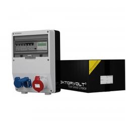 Stromverteiler TD-S/FI 32A 2x230V Drehstromzähler MID Doktorvolt® 9092