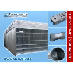 Bauzaun BUSINESS inkl. Betonstein und Verbinder 30er Set