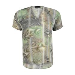 Bluse mit V-Ausschnitt Doris Streich kiwi