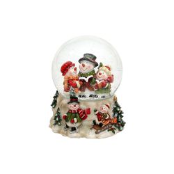 SIGRO Schneekugel Schneekugel Schneemannfamilie