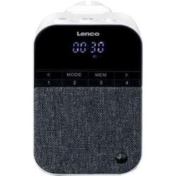 Lenco PPR-100WH Radio (FM-Tuner, Steckdosenradio mit Nachtlicht)