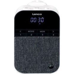 Lenco PPR-100WH Digitalradio (DAB) (Digitalradio (DAB), FM-Tuner)
