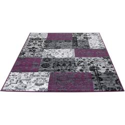 Teppich Patchwork Orient, Living Line, rechteckig, Höhe 7 mm, Orient-Optik lila 120 cm x 170 cm x 7 mm
