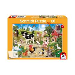 Schmidt Spiele Puzzle Puzzle Animal Club Bauernhof, 60 Teile, Puzzleteile