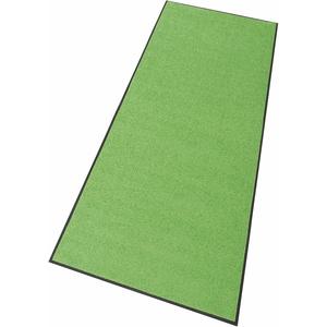 wash+dry by Kleen-Tex Läufer Trend Uni, rechteckig, 7 mm Höhe, Schmutzfangläufer, In- und Outdoor geeignet, waschbar grün Teppichläufer Bettumrandungen Teppiche