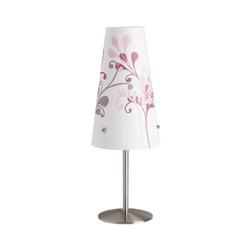Brilliant Nachttischlampe Nachttischlampe Isi, weiß mit Blumen