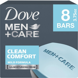 Dove Men+Care Clean Comfort Body & Face Bar Soap - 8pk - 3.75oz each