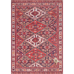 Teppich Afghan Kelim, ELLE Decor, rechteckig, Höhe 5 mm, Orient-Optik rot 160 cm x 230 cm x 5 mm