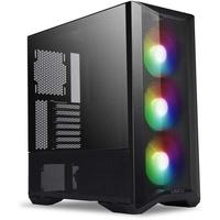 Lian Li LANCOOL II MESH RGB - Midi Tower - PC - SGCC - Gehärtetes Glas - Schwarz - ATX,EATX,ITX - Taschenlüfter (Lancool II mesh RGB black)