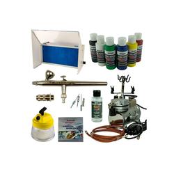 Airbrush-City Druckluftwerkzeug Nail-Art Airbrush Set - Airbrushpistole Ultra + Saturn 25 Kompressor + Absauganlage - Kit 9207+, (1-St)