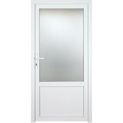 KM Zaun Nebeneingangstür K603P, BxH: 98x208 cm cm, weiß, links