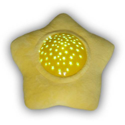 Niermann 80038 LED-Nachtlicht mit Projektor Stern Plüschstern LED Gelb