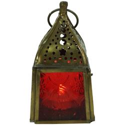 Guru-Shop Laterne Glaslaterne, Windlicht,Teelichthalter aus.. rot