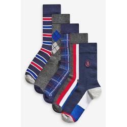 Next Kurzsocken Gemusterte Socken, 5er-Pack (5-Paar) 43-45