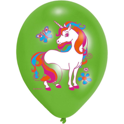 Amscan Luftballon Luftballon Einhorn, 6 Stück