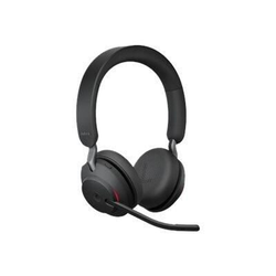 Jabra Evolve2 65 MS stereo Headset On-Ear kabellos, USB, Geräuschisolierung