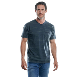 V-Neck T-Shirt Engbers Petrolblau