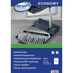 Europe 100 90921 Overhead-Projektor-Folie DIN A4 Farblaserdrucker, Laserdrucker, Farbkopierer, Kopie