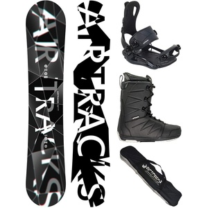 Airtracks Snowboard Set - Wide Board REFRACTIONS Game 171 - Softbindung Master - Softboots Strong 45 - SB Bag