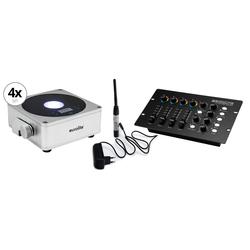 Eurolite AKKU Flat Light 1 sil WD-512 Wireless Set mit DMX Controller