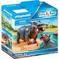 Playmobil Family Fun Flußpferd mit Baby