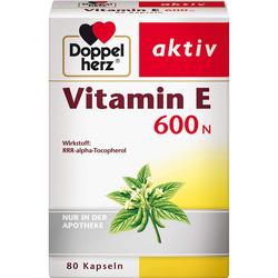 DOPPELHERZ Vitamin E 600 N Weichkapseln 80 St.