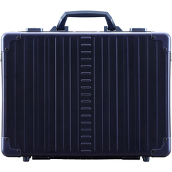 ALEON Aktenkoffer Aluminiumkoffer Attaché Laptop Case, 33 cm blau