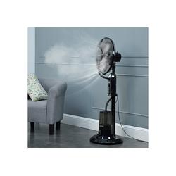 in.tec Standventilator, Limassol Nebelventilator Schwarz mit Sprühnebelfunktion
