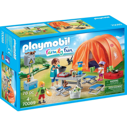 Playmobil® Konstruktions-Spielset Familien-Camping (70089), Family Fun, Made in Germany