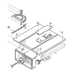PROXXON 28070-51 Führung Winkelanschlag für Feinschnitt-Tischkreissäge FKS/E