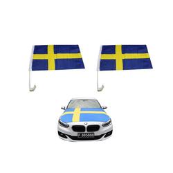 Sonia Originelli Fahne Auto Fan-Paket Haubenfahne Fensterfahnen Spiegelfahnen Magnetflaggen Schweden Sweden, Fanartikel für das Auto in Schweden-Farben Fanset-10