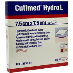 Cutimed Hydro L Hydrok.Ver.7,5x7,5 cm Dünn