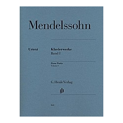 Klavierwerke. Felix - Klavierwerke  Band I Mendelssohn Bartholdy  - Buch